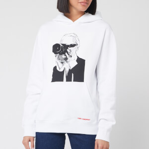 Karl Lagerfeld Women's Legend Hoody - White