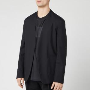 Maison Margiela Men's Collarless Suit Jacket - Black