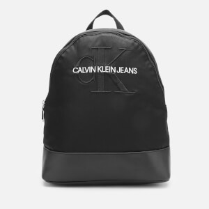 Calvin Klein Jeans Women's Monogram Nylon Backpack - Black