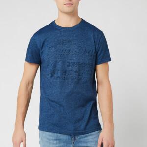Superdry Men's Vintage Authentic Embossed T-Shirt - Navy Cobalt Grit
