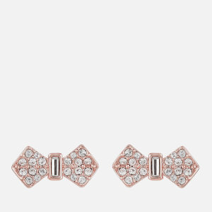 Ted Baker Women's Sersi Solitaire Pave Bow Earrings - Rose Gold