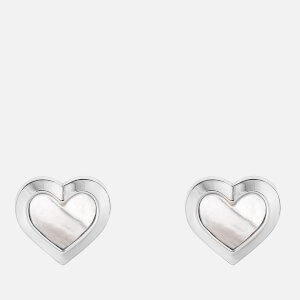 Ted Baker Women's Heila Mother of Pearl Heart Stud Earrings - Silver