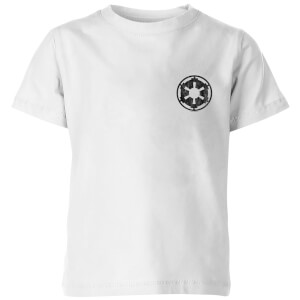 The Mandalorian Galactic Empire Insignia Breast Print Kids' T-Shirt - White