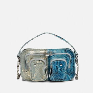 Núnoo Women's Helena Half and Half Cross Body Bag - Silver/Blue