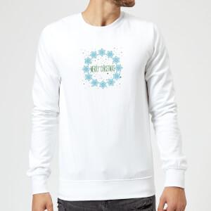 Merry Christmas flakes Sweatshirt - White