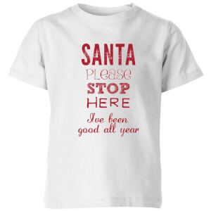 Please santa Kids' T-Shirt - White