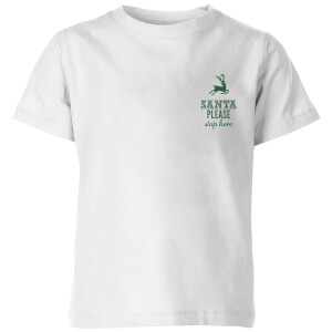 Santa stop Pocket Kids' T-Shirt - White