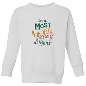 The most wonderful Kids' Sweatshirt - White