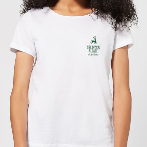 Santa stop Pocket Women's T-Shirt - White