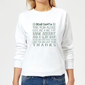 Dear Santa Women's Sweatshirt - White