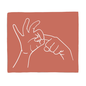 Rude Hand Gestures Fleece Blanket