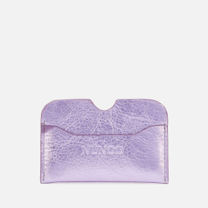 Núnoo Women's Carla Metallic Card Holder - Purple