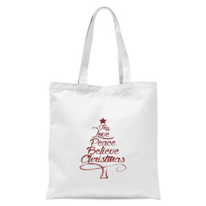 Peace at christmas Tote Bag - White
