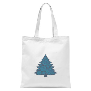 Snowflake tree Tote Bag - White