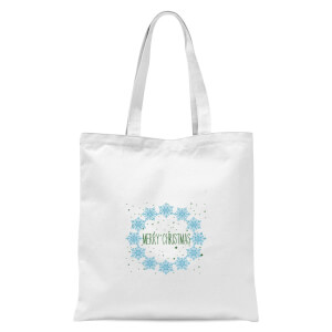 Merry Christmas flakes Tote Bag - White