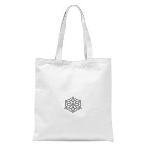 Snow flake Tote Bag - White