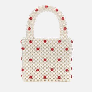 Shrimps Women's Dolly Beaded Bag - Cream/Red