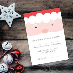 Santa Claus Officially Informs Art Print - A4