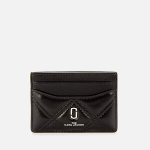 Marc Jacobs Women's The Quilted Softshot Card Case - Black
