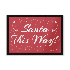 Santa This Way Entrance Mat