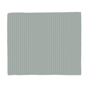 Grey Festive Pattern Fleece Blanket