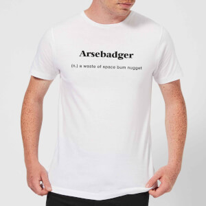 Arsebadger Men's T-Shirt - White
