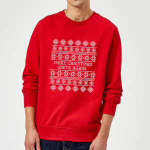Make Christmas Greta Again Sweatshirt - Red