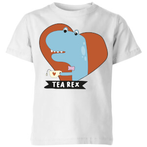 Tea Rex Kids' T-Shirt - White