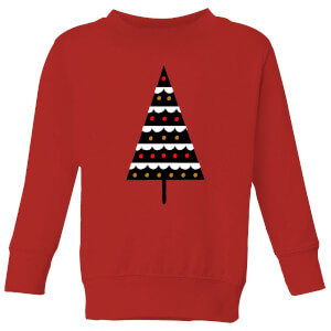 Dark Christmas Tree Kids' Sweatshirt - Red