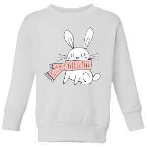 Christmas Rabbit Kids' Sweatshirt - White