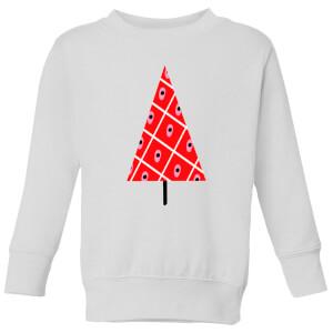 Spotty Christmas Tree Kids' Sweatshirt - White from I Want One Of Those