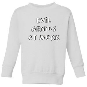 Evil Genius At Work Kids' Sweatshirt - White