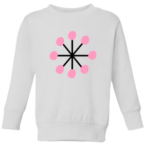 Pink Snowflake Kids' Sweatshirt - White