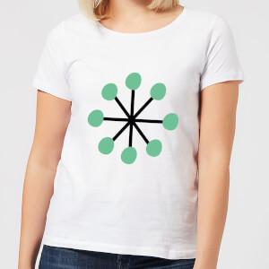 Green Star Women's T-Shirt - White