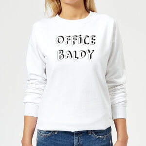 Office Baldy Women's Sweatshirt - White