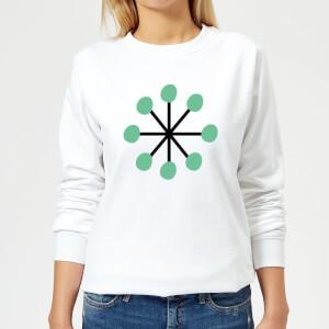 Green Star Women's Sweatshirt - White