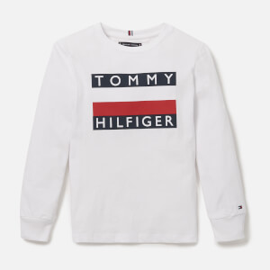 Tommy Hilfiger Boys' Essential Long Sleeve T-Shirt - White