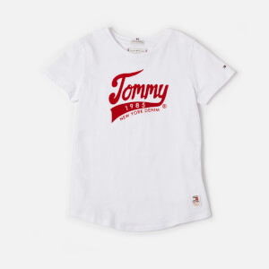 Tommy Hilfiger Girls' Tommy 1985 T-Shirt - Bright White