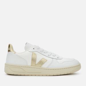 Veja Women's V-10 B-Mesh Trainers - White/Gold