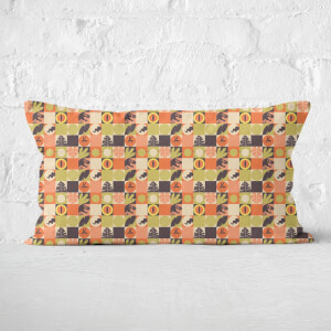 Orange Jurassic Park Rectangular Cushion 30x50
