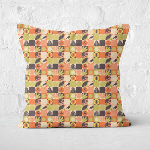 Orange Jurassic Park Square Cushion 40x40cm