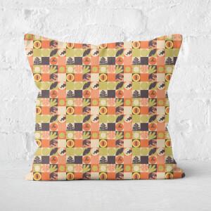 Orange Jurassic Park Square Cushion 40x40cm