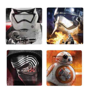 Funko Homeware Star Wars Ep VII:Plate Set: Photographic Characters 4 Pack