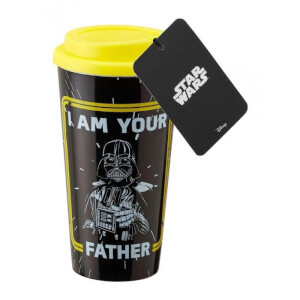 Funko Homeware Star Wars: Plastic Lidded Mug: I am your Father