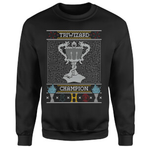 Trwizard Champion Christmas Sweatshirt - Black