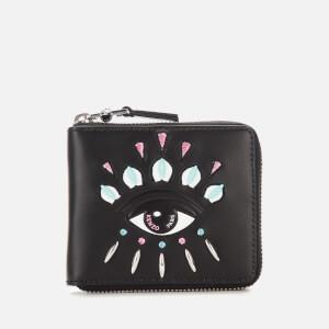 KENZO Women's Eye Small Zip Wallet - Black
