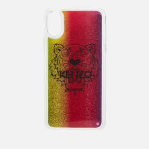 KENZO Women's iPhone X Tiger Liquid Phone Case - Multicolour