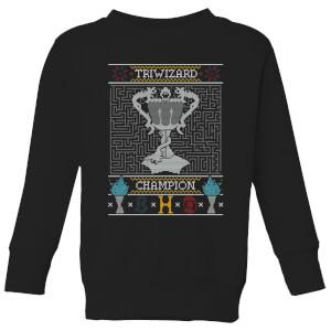 Triwizard Champion Kids' Christmas Sweatshirt - Black