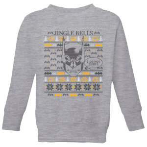 Batman I Do Not Smell Kids' Christmas Sweatshirt - Grey