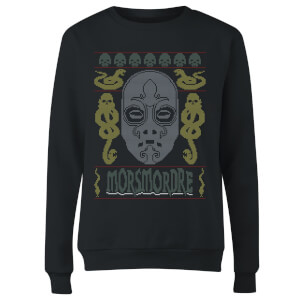 Morsmordre Women's Christmas Sweatshirt - Black